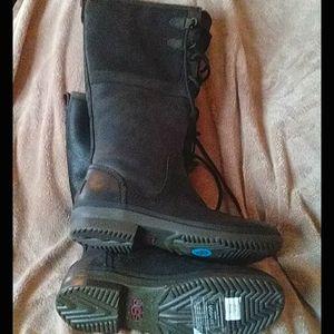 Ugg Elisa sz10 waterproof lace top side zip boots